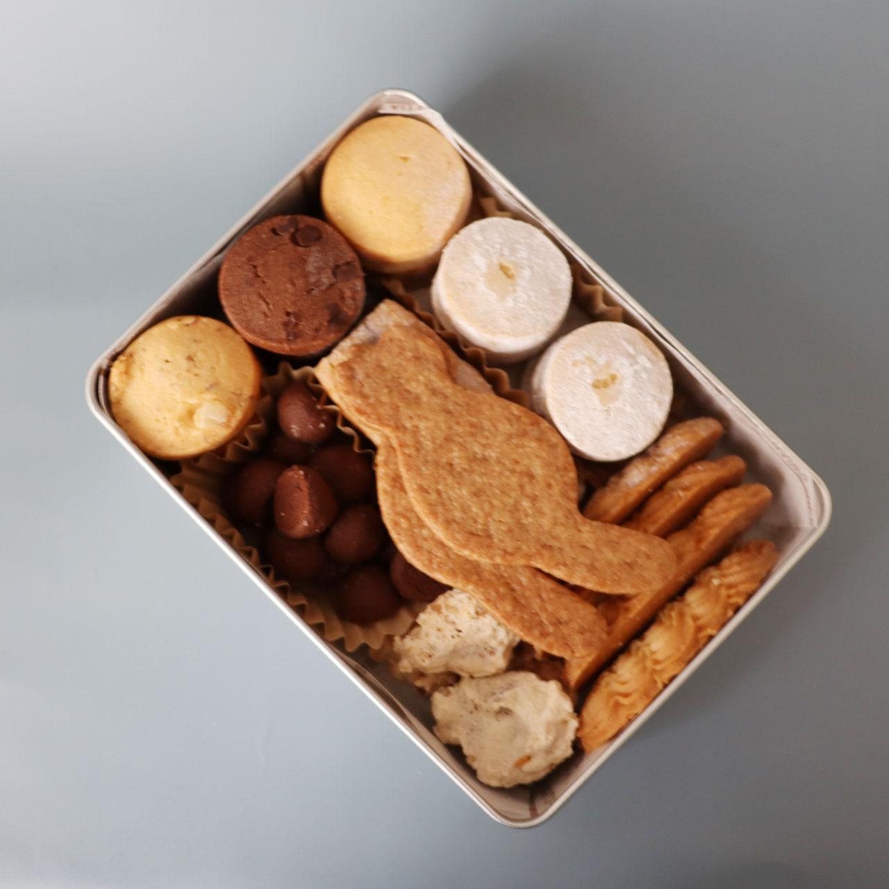 memo/缶入りクッキー/ねこ